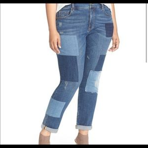 Mellisa McCarthy RollUp Patch Girlfriend Jeans